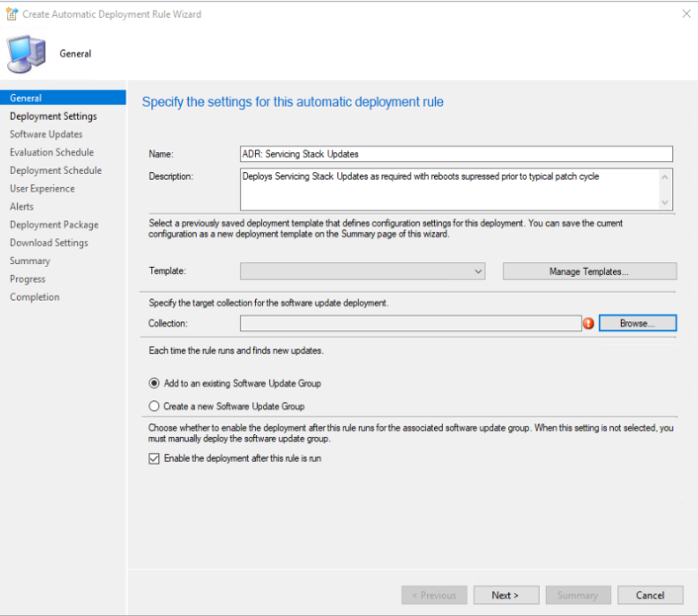 Servicing Stack Update ADR – ConfigMgr Admin